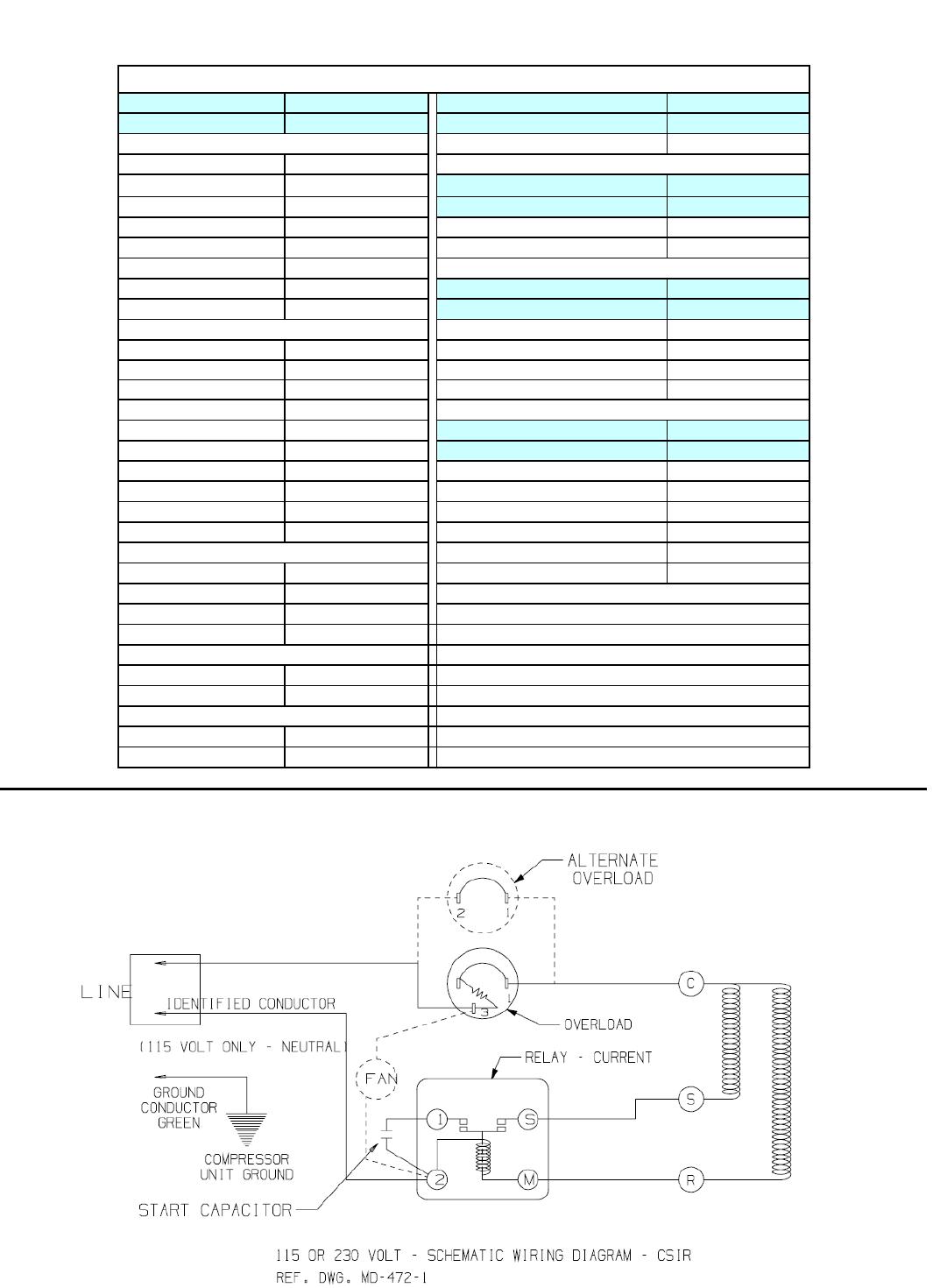Tecumseh Ae2415z Aa1aeb Performance Data Sheet Condenser Wiring Diagram Unit Bom 32v328 19 29