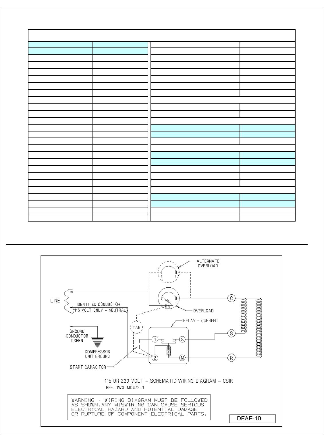 Tecumseh Compressor Start Relay Wiring Diagram from usermanual.wiki