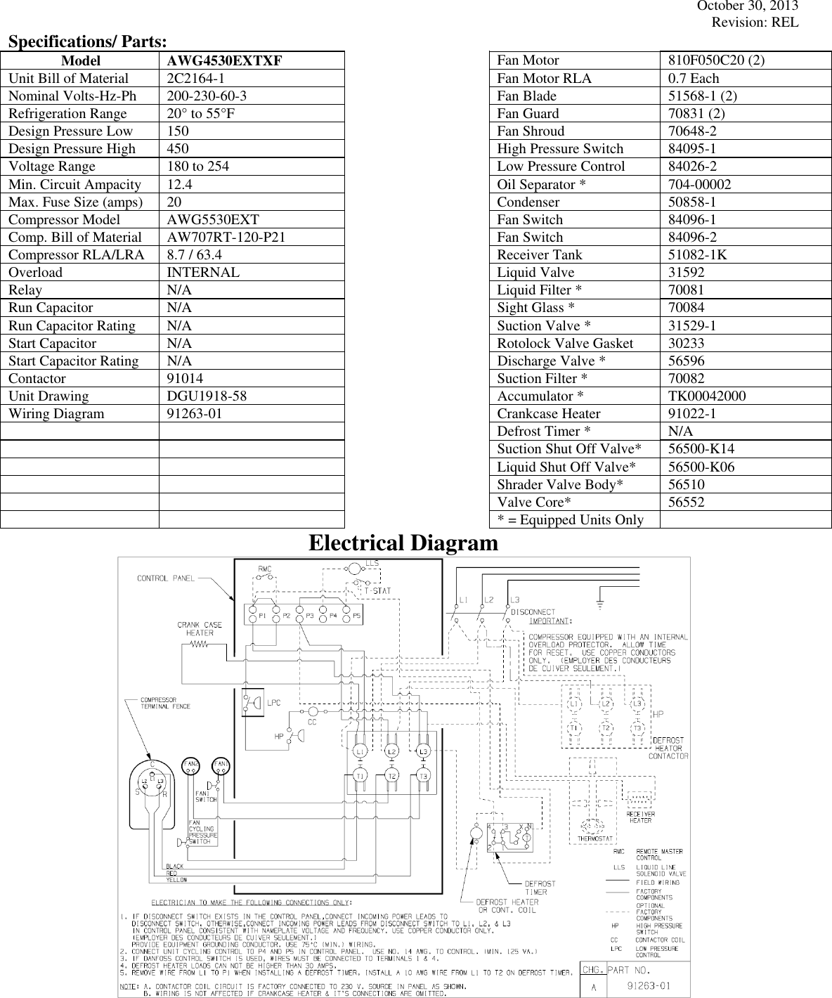 Tecumseh Awg4530extxf Performance Data Sheet 2c2164 1 Condenser Wiring Diagram Page 2 Of