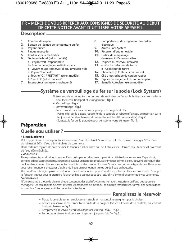 f25c9dc1932 Tefal Gv8800C0 Instruction Manual 110x154