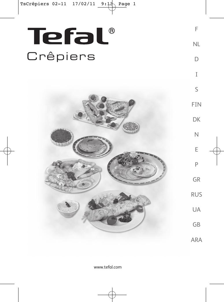 fairer Preis Entdecken Sie die neuesten Trends farblich passend Tefal Py300612 Instruction Manual TsCrêpiers 02 11