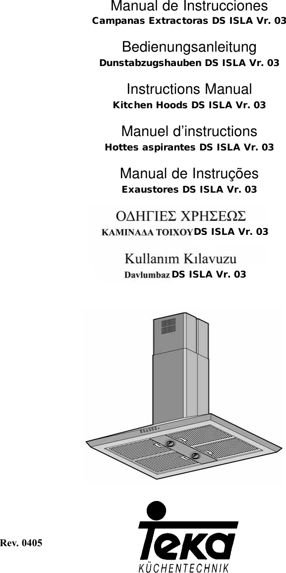 Teka Ds Isla Vr 03 Users Manual