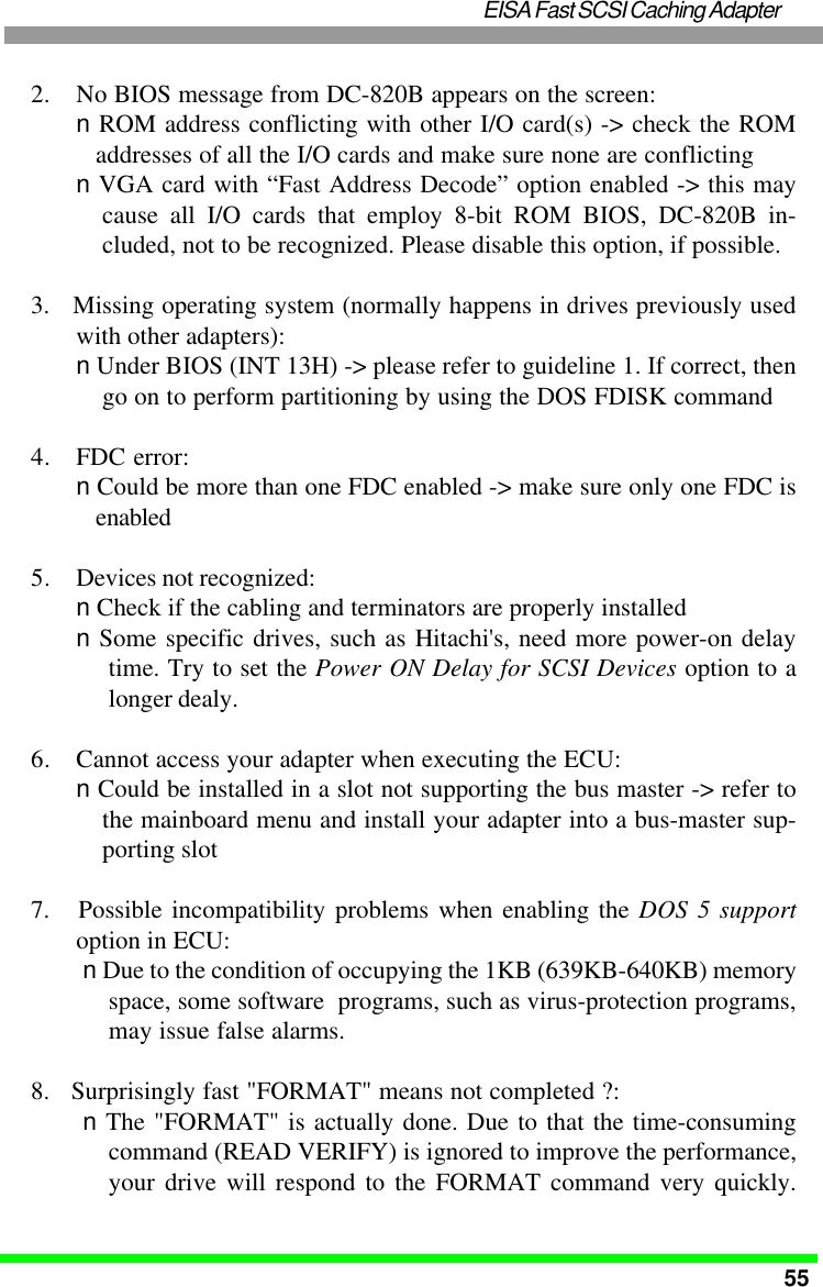 Tekram Technology Dc 820B Users Manual 5