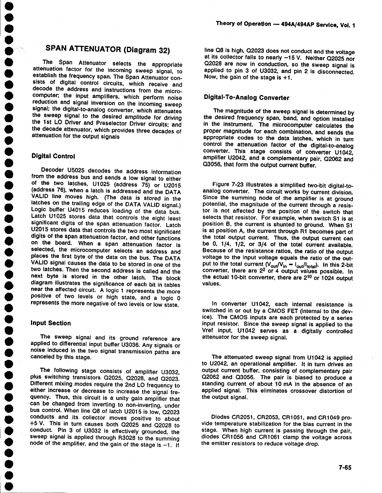 Tektronix Water Dispenser 494A Users Manual
