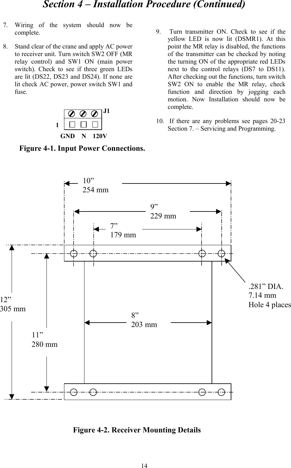 telemotive controls e10647 remote control transmitter user manual crane motor wiring diagram section 4 installation procedure (continued) 14 7 wiring of the system should
