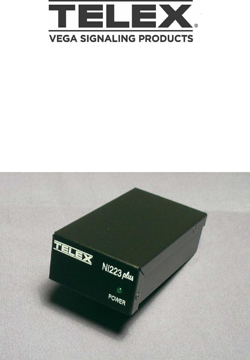 Telex Ip 223 Iden Interface Ni Plus Users Manual NI223Plus Rev C