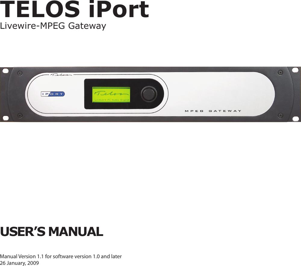 Telos Zephyr Iport Users Manual