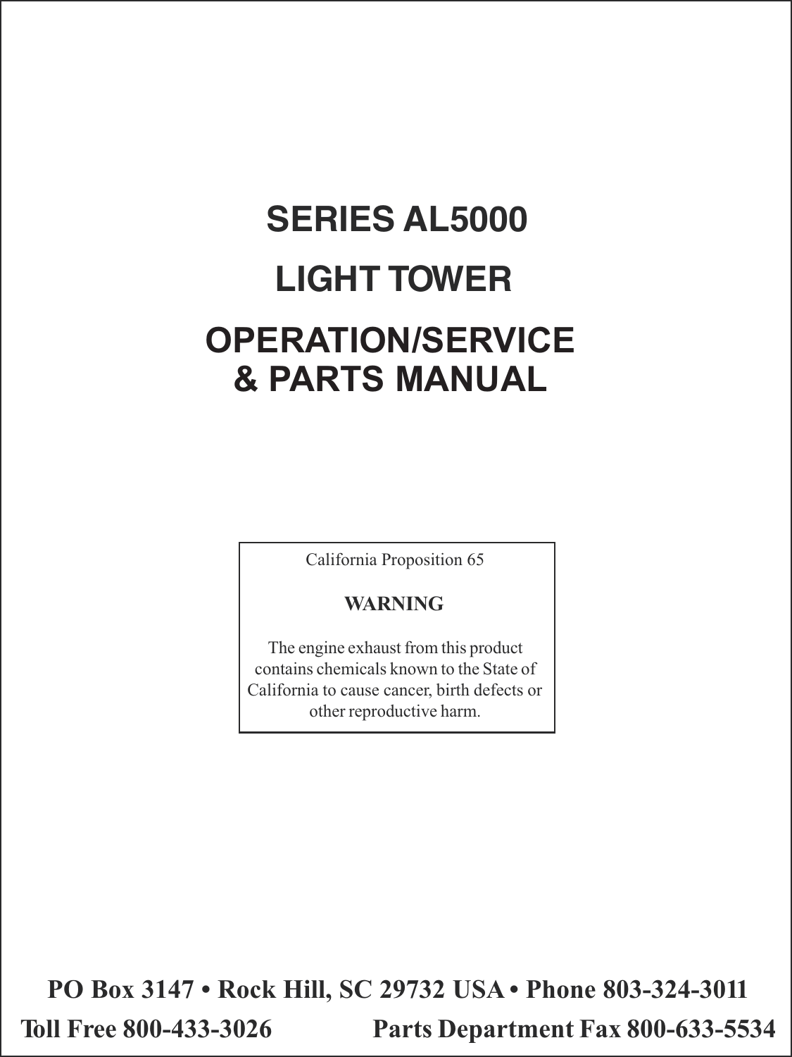 Terex Marine Lighting Al5000 Users Manual Revb September 2006pmd Wiring Diagrams