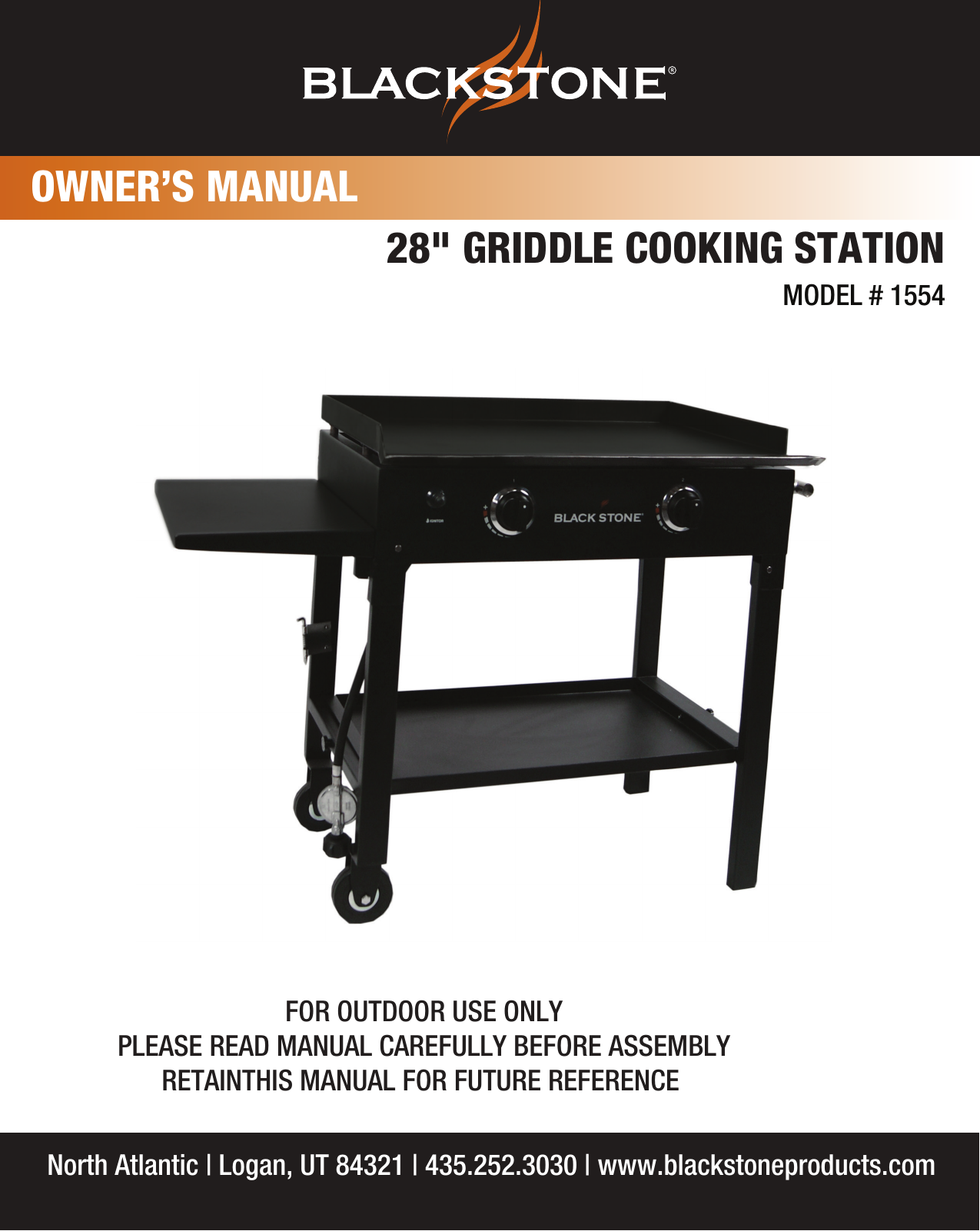 The Blackstone Grill 28 Griddle Cooking Station 1554 Users Manual Inch Manualx