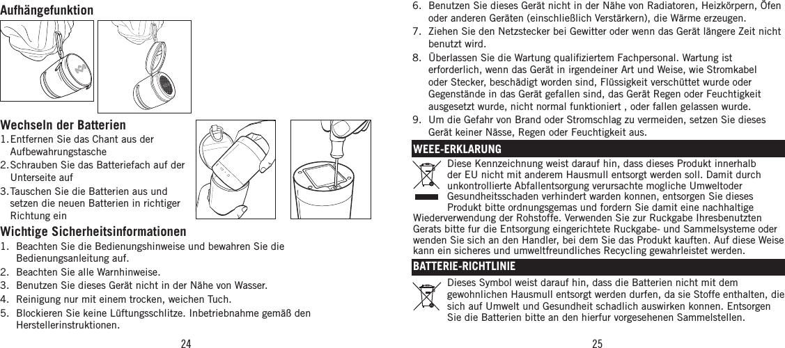The house of marley chantmini chant mini user manual 1 - Feuchtigkeit in wanden ...