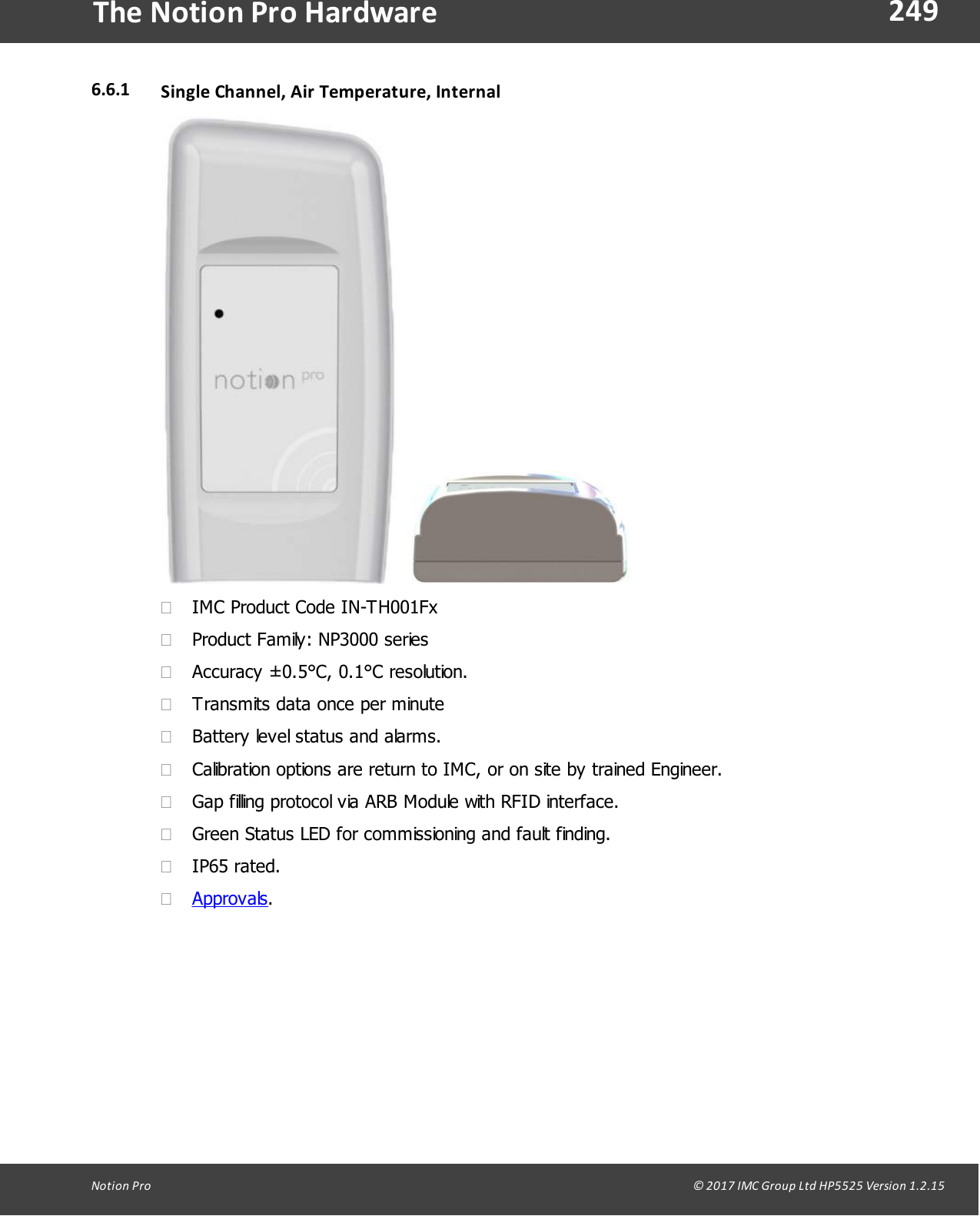 The IMC Group IN-TH001F2 Notion Pro Transmitter User Manual