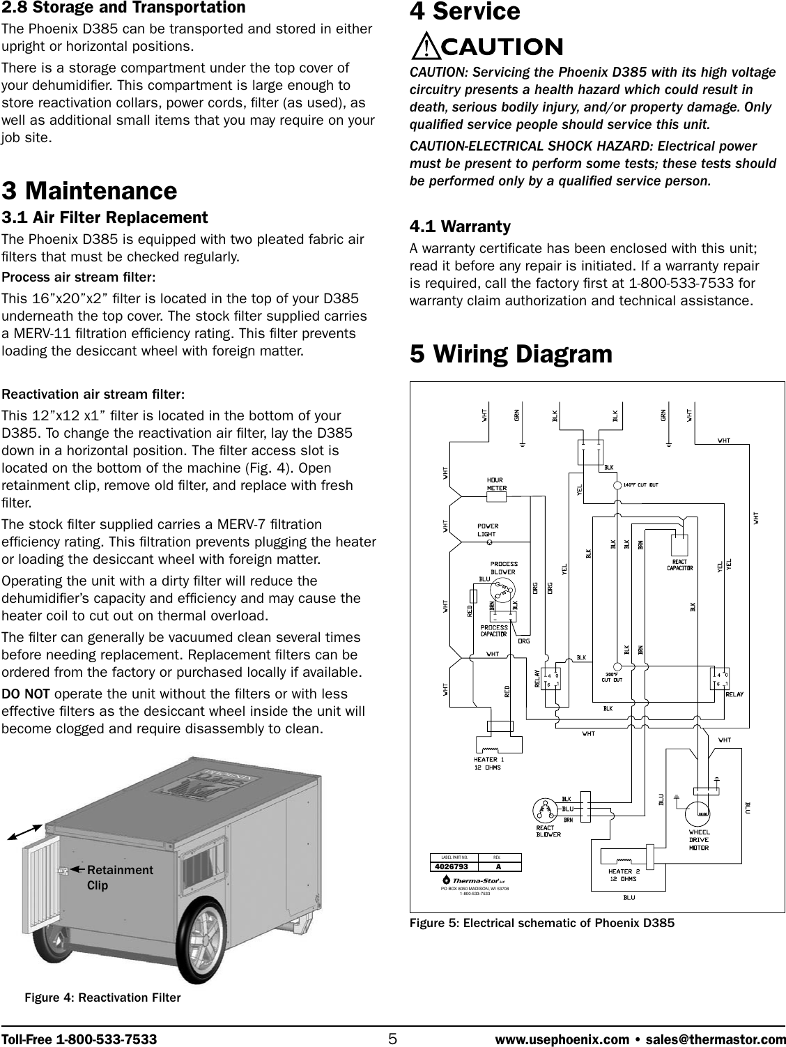 Therma Stor Products Group Phoenix D385 Users Manual Wiring Diagram Page 5 Of 7