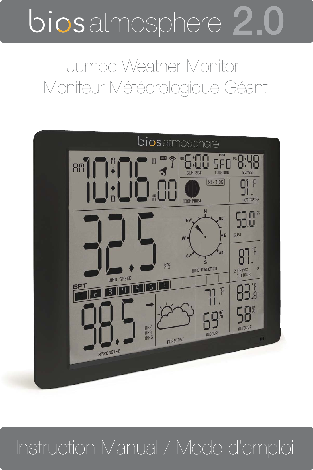 Thermor 375RX JUMBO SCREEN WEATHER STATION User Manual
