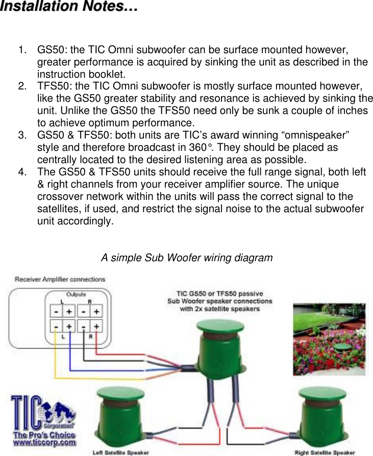 Tic Gs50 Users Manual Instructions Gstfs50
