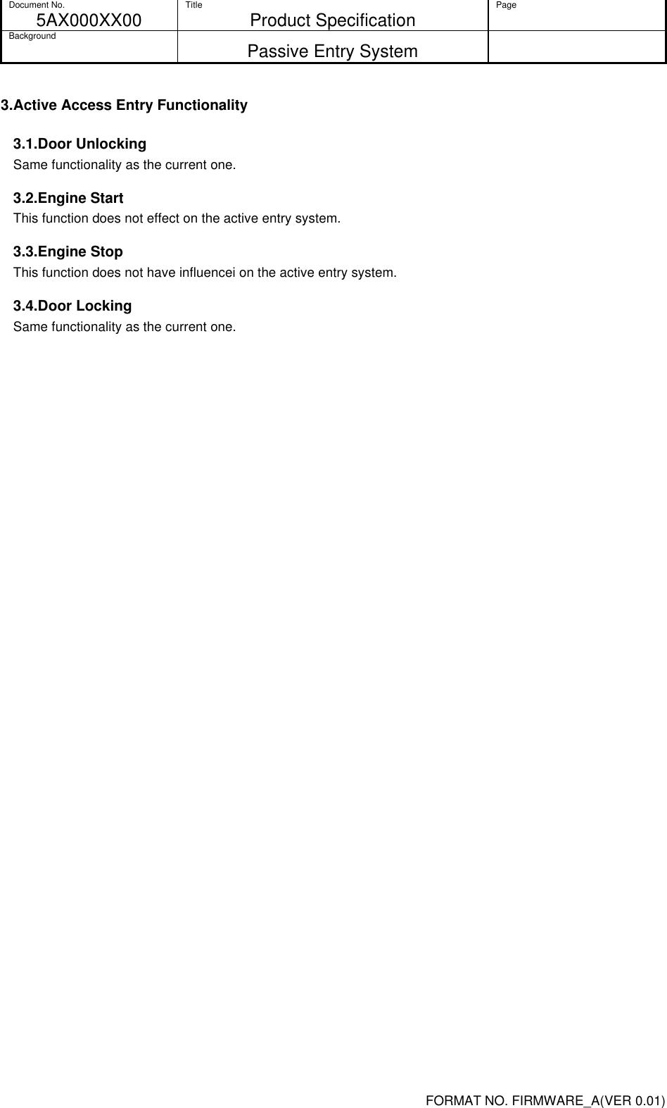 Tohoku Alps Co WDU61 Passive Entry System User Manual Infomation