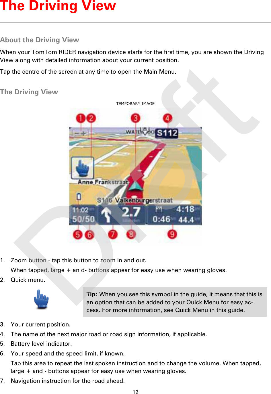 TomTom 4GD00 GPS Navigation System User Manual TomTom RIDER