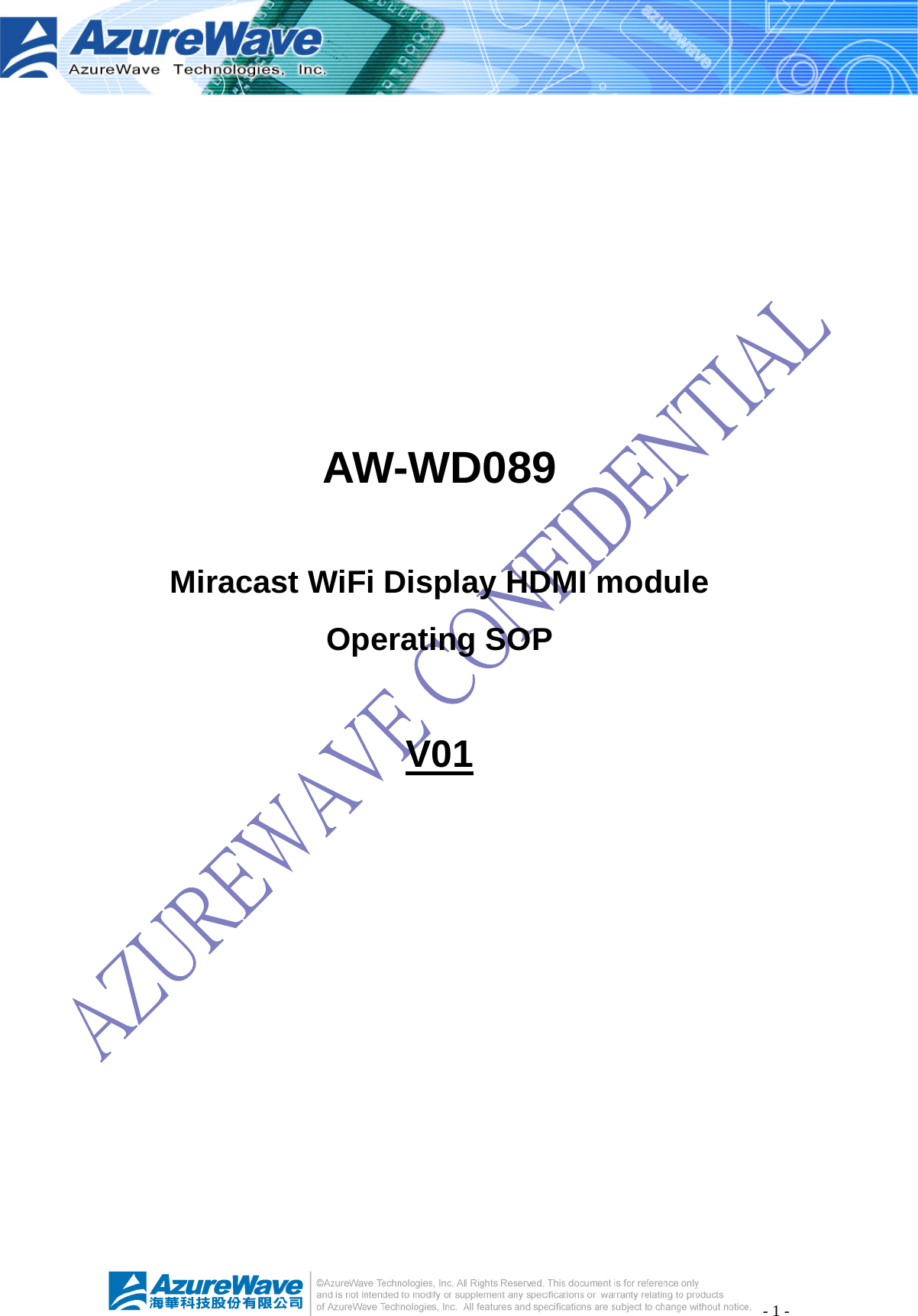 Top Victory Electronics AWWD089 Miracast WiFi Display HDMI module