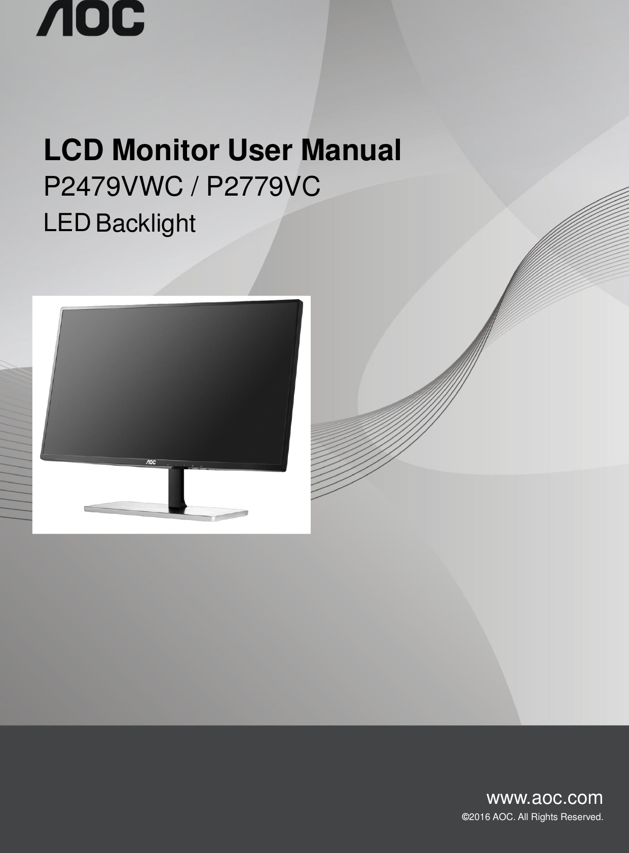 top victory electronics pwmaw630a lcd monitor with wireless qi rh usermanual wiki AOC e2243Fw Users Manual AOC Monitor Controls