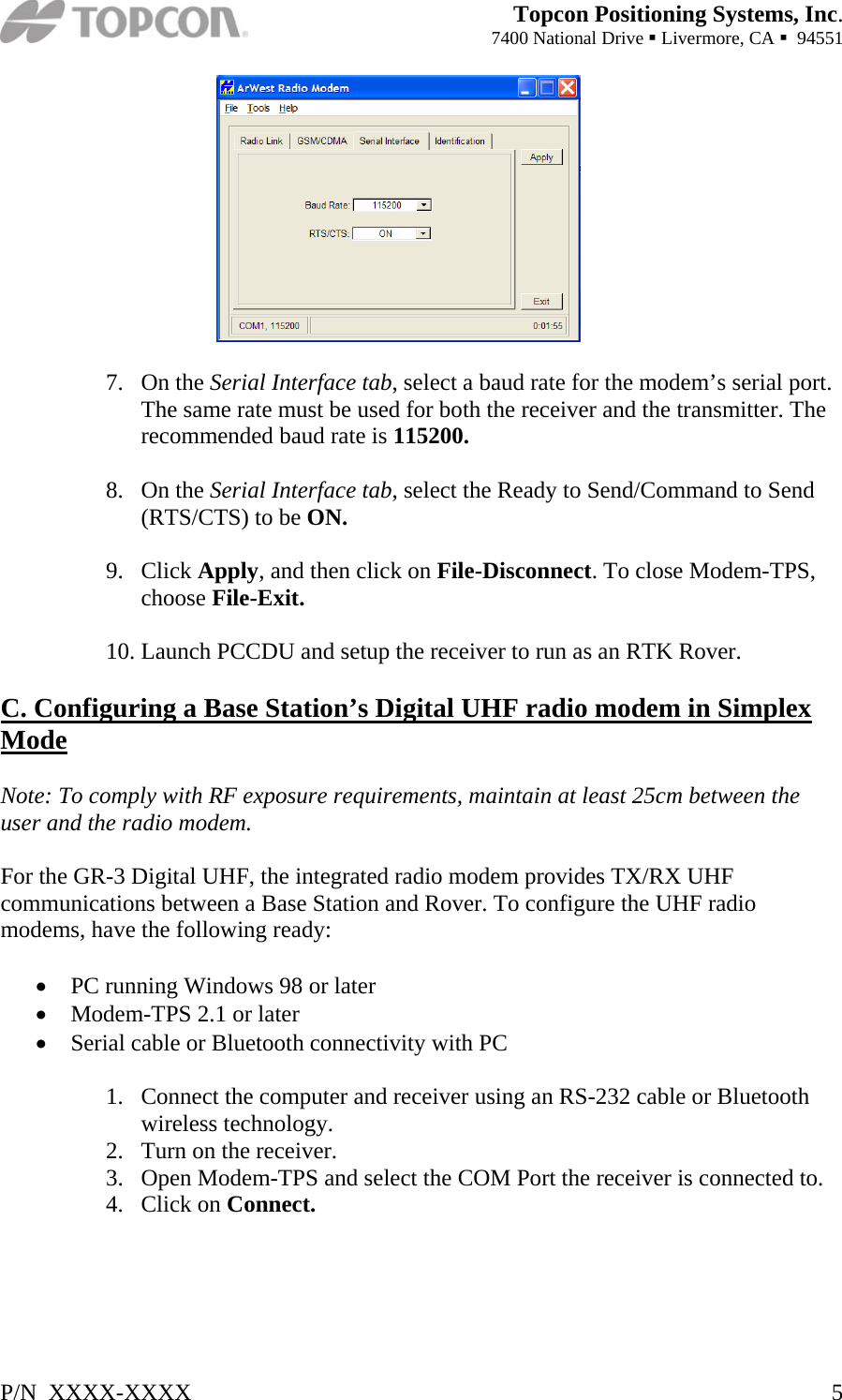 Topcon America 050902 GR 3, 01-050901-22 User Manual Installation Manual