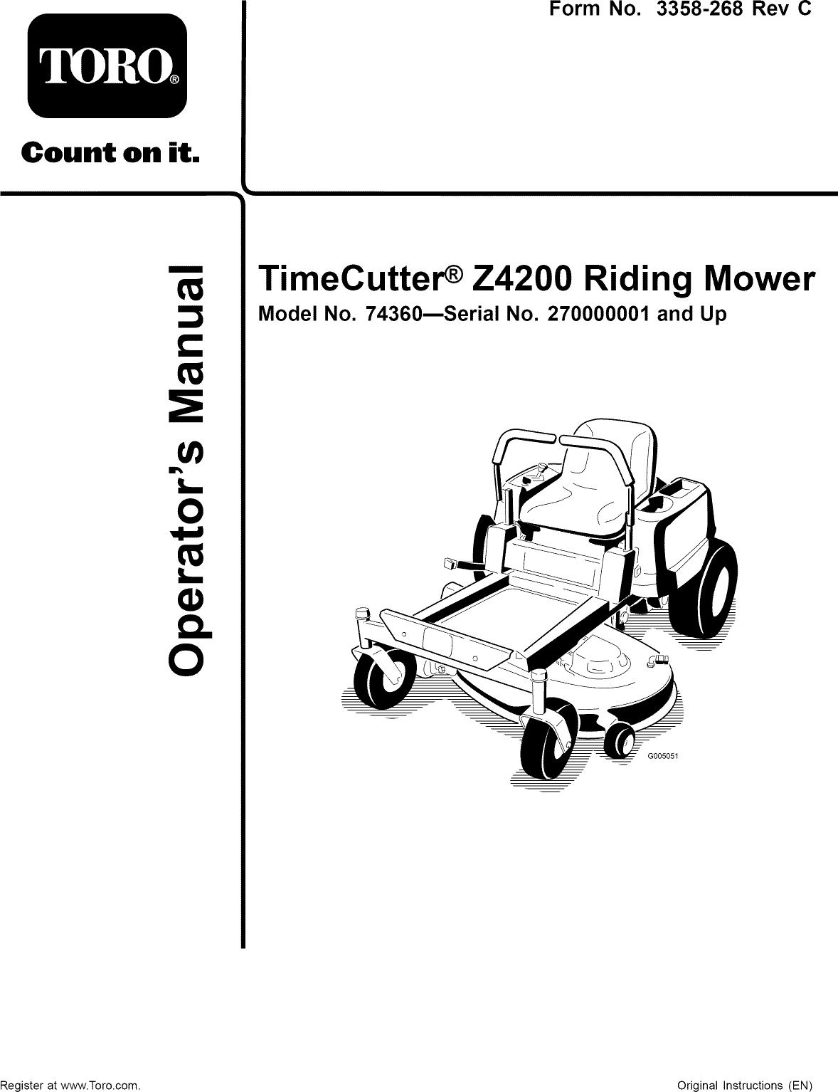 Toro 74360 270000001 270999999 User Manual Riding Mower Manuals Timecutter Wiring Diagram Under Seat Wires And Guides 1106640l
