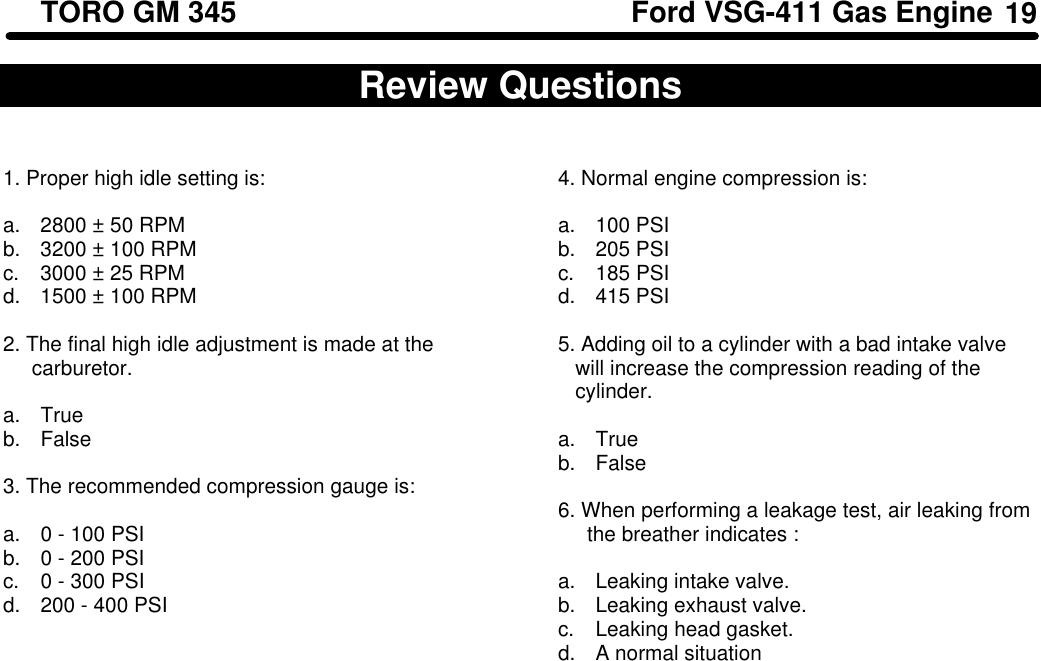 Toro Groundsmaster 325 D Users Manual