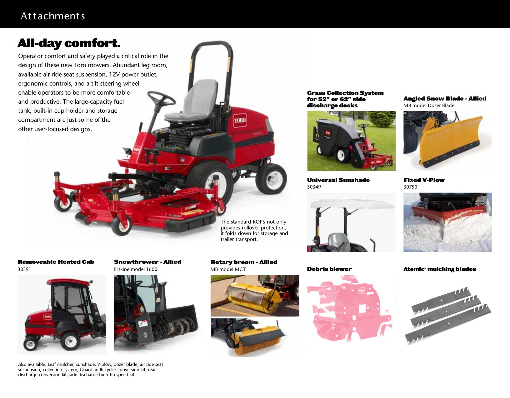 Toro Groundsmaster 3280 D 2Wd 30344 Brochure