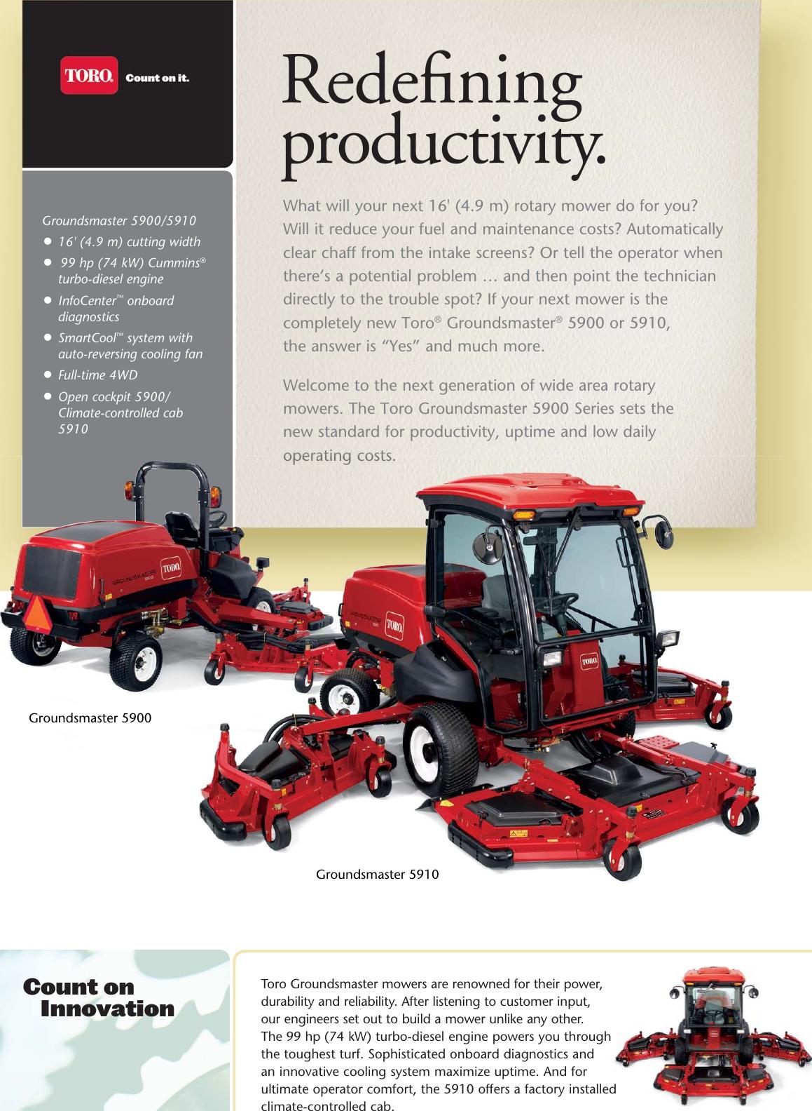 Toro Groundsmaster 5900 Brochure GM 5900|5910 Bro