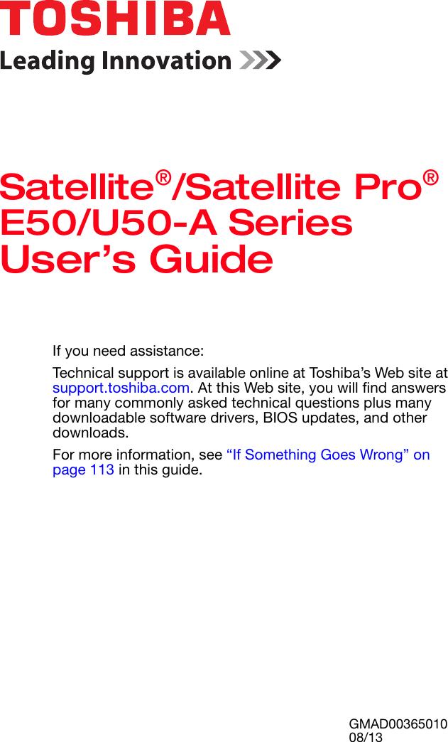 toshiba satellite satellite pro e50 u50 a series user s guide rh usermanual wiki toshiba user guide pdf toshiba user guide satellite c55d-b