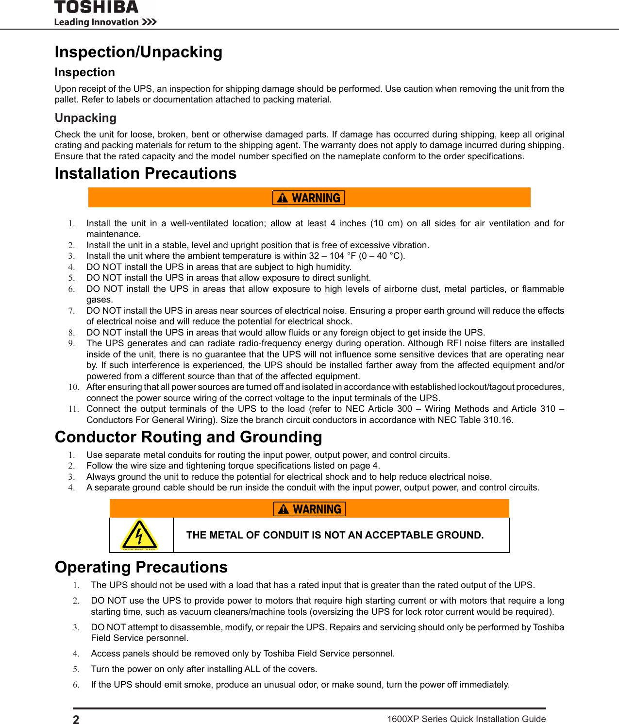 Toshiba 1600 Xp Ups Users Manual Wiring Diagram Page 2 Of 4