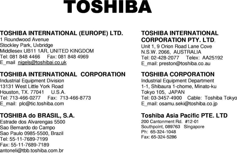 toshiba international europe ltd middlesex