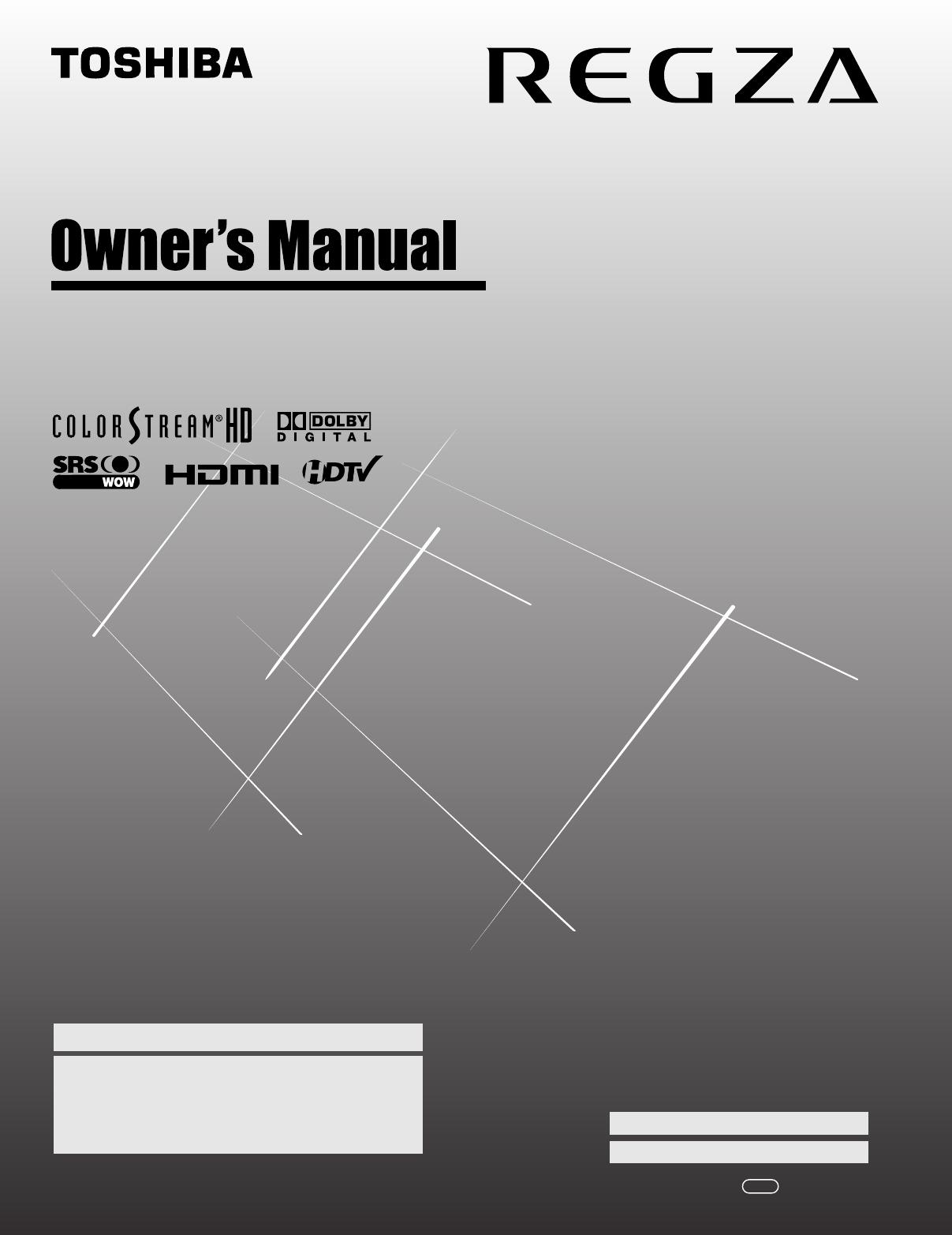 Toshiba 40Rf350U Owners Manual