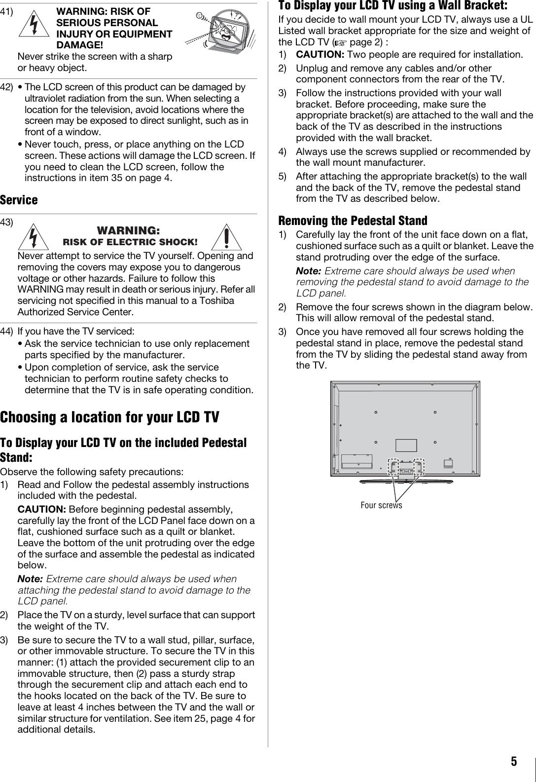 Toshiba 40Ux600U Users Manual 05240UX600