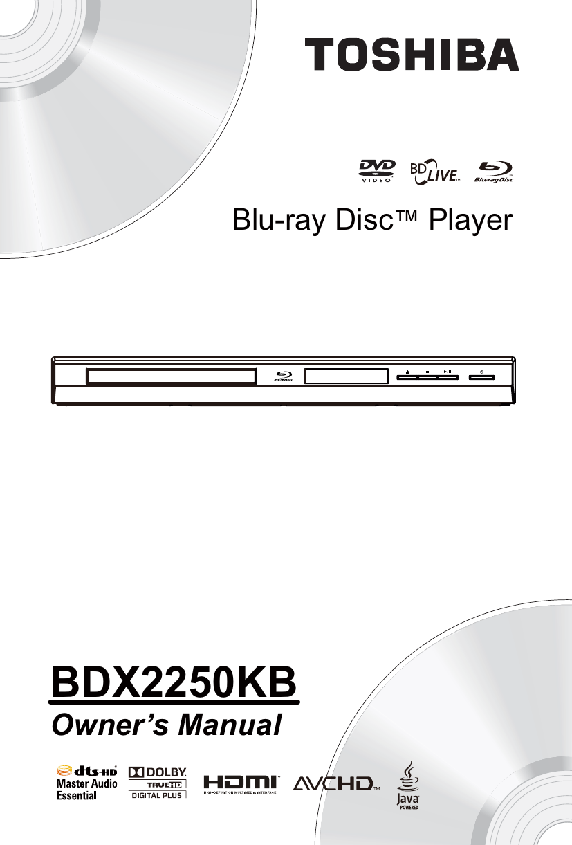 Toshiba Bdx2250 Users Manual