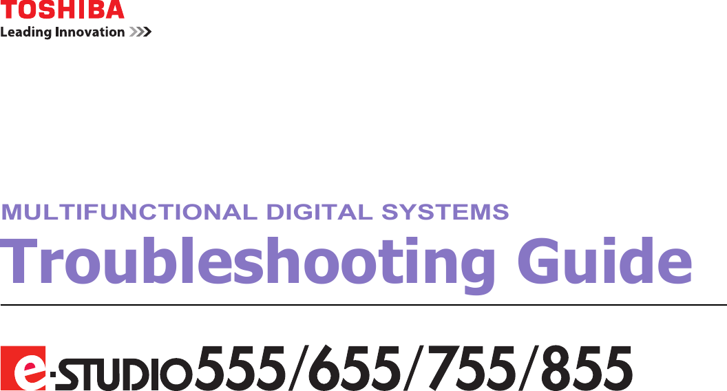Toshiba E Studio 555 Troubleshooting ManualsLib Makes It