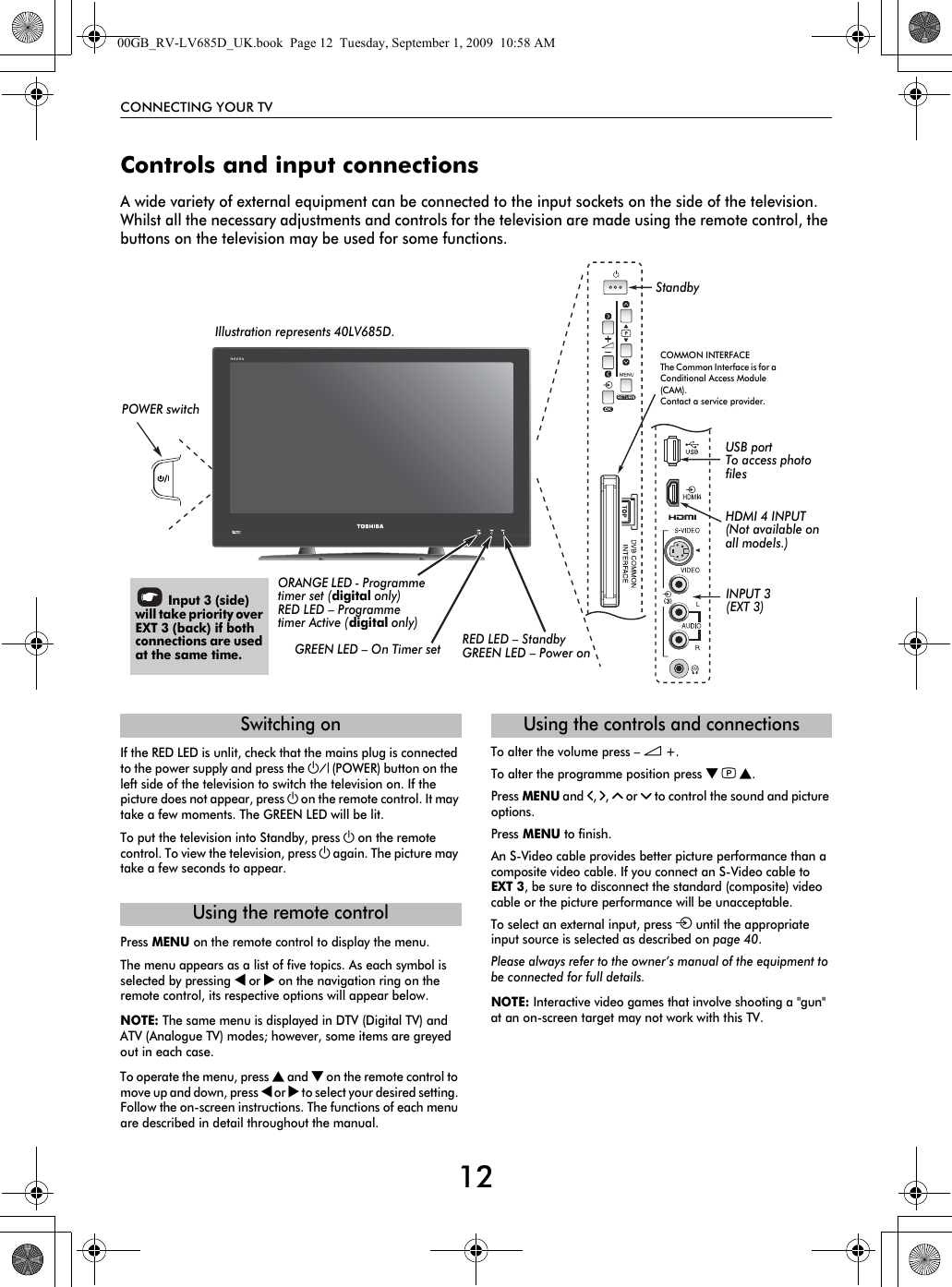 Toshiba Lv665 32 Users Manual