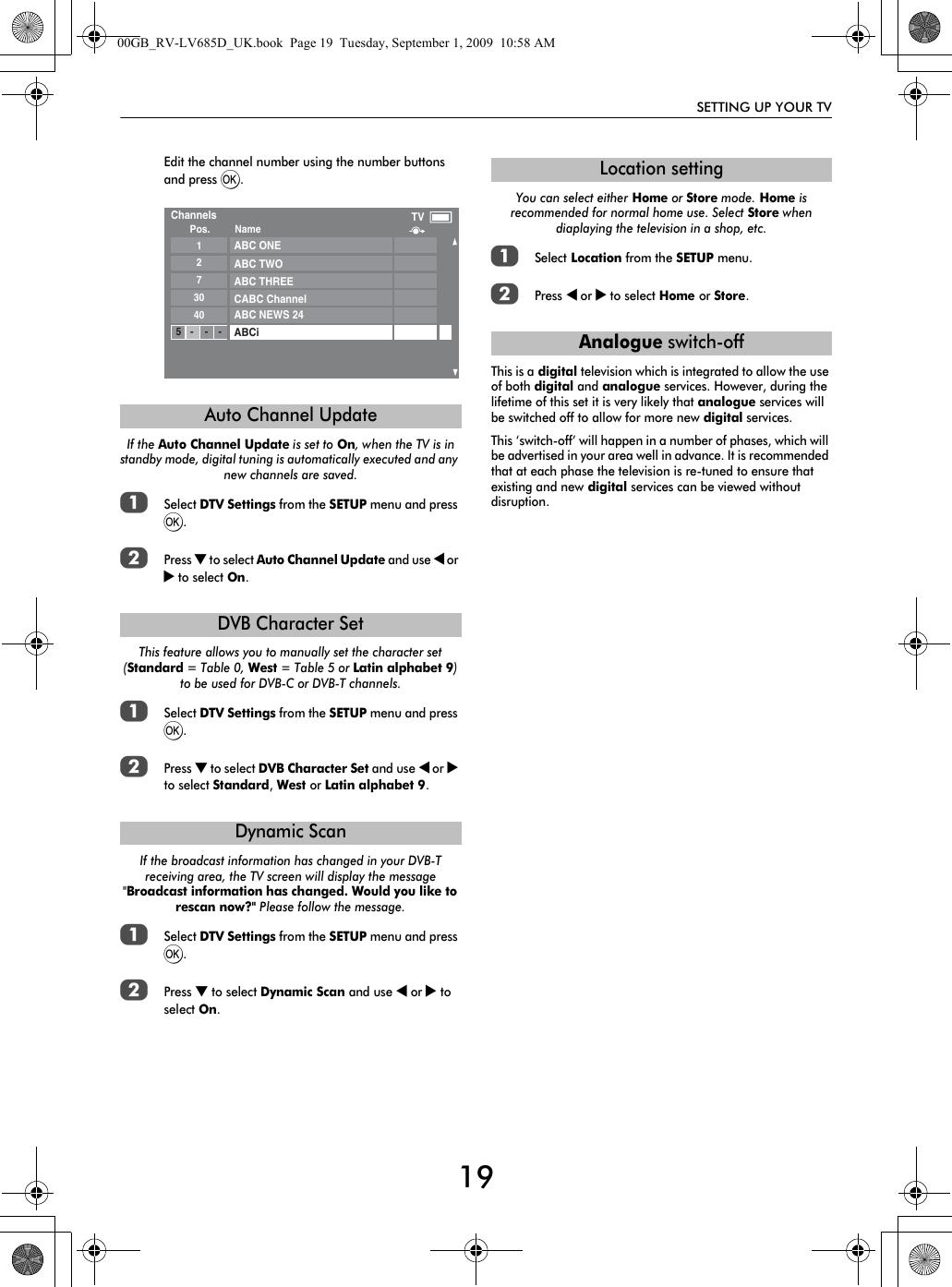 Toshiba Lv665 32 Users Manual
