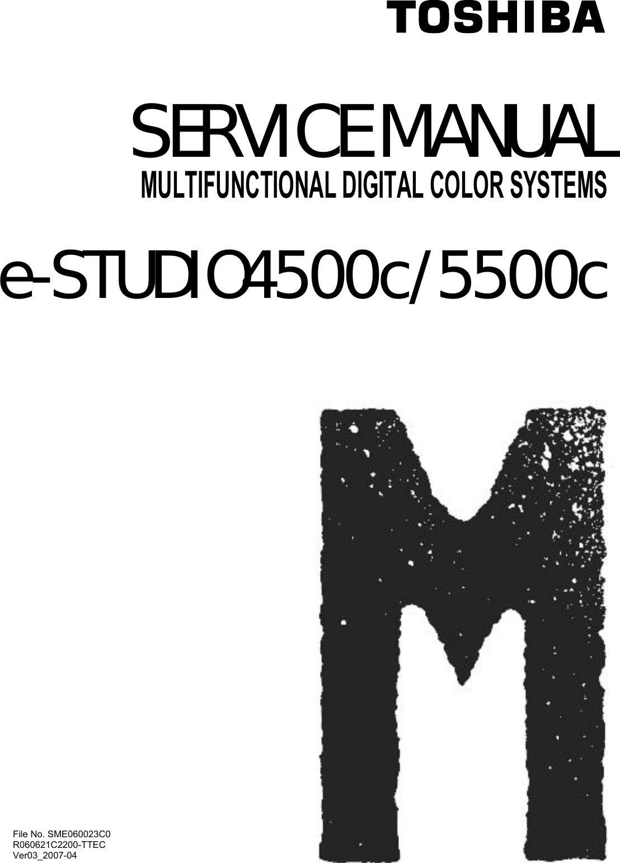 toshiba multifunctional digital color systems e studio4500c 5500c users manual