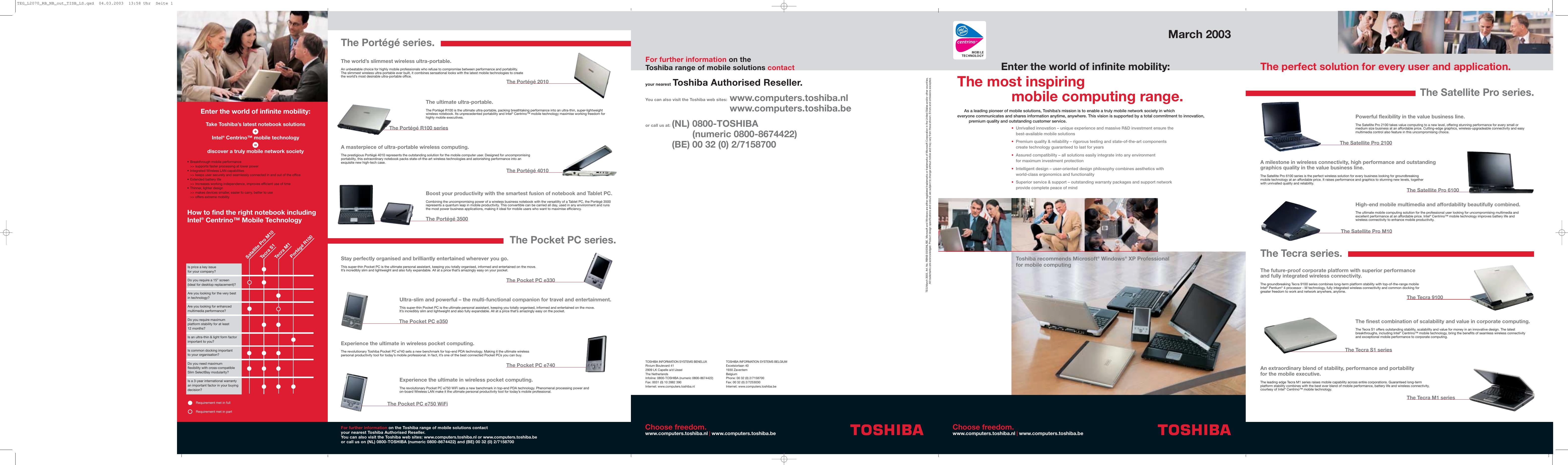 Toshiba Pro 2100 Specifications