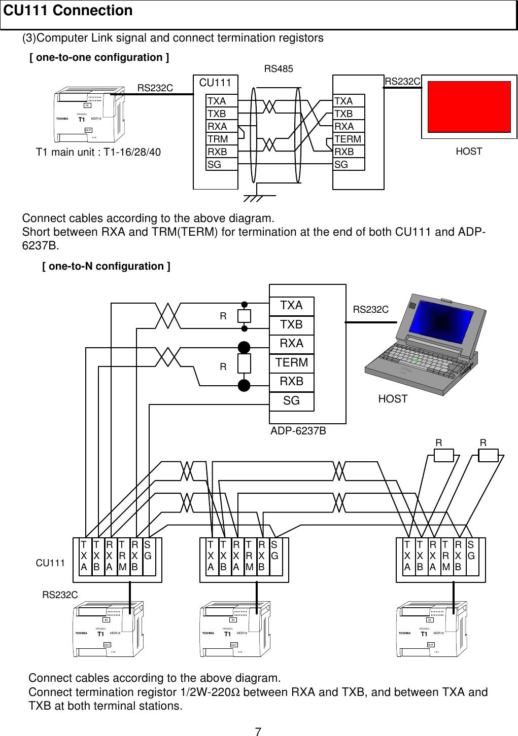 Toshiba Rs 485 Users Manual  橡 CU1100