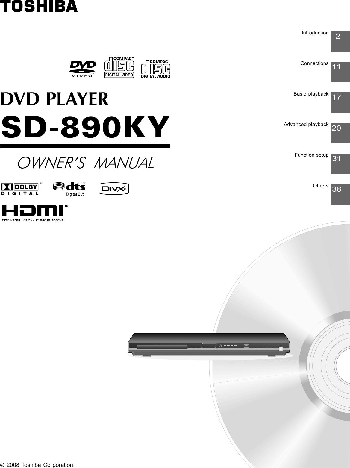 toshiba dvd player user manual