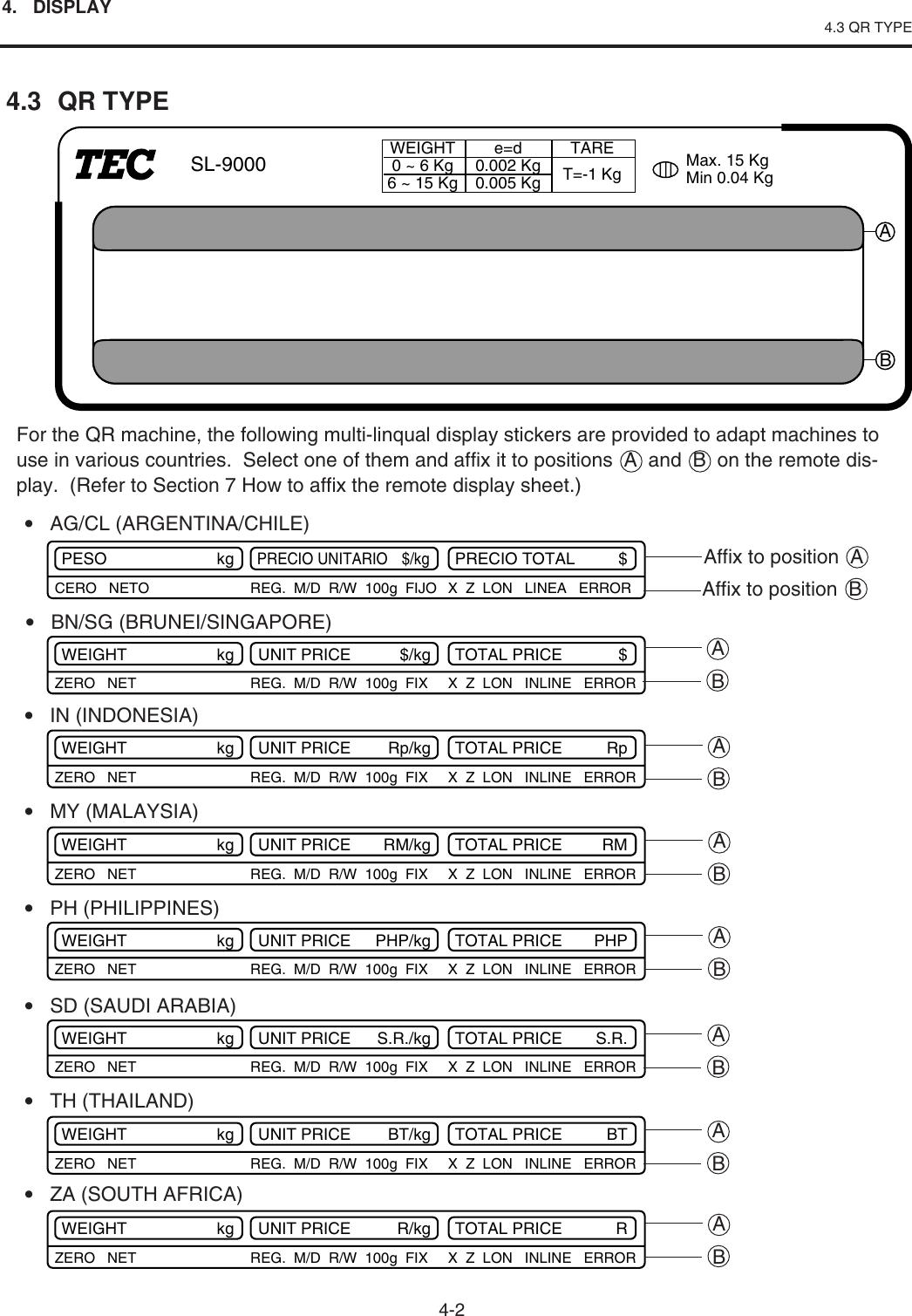 Toshiba Tec Sl 9000 Esb X Series Owners Manual SL9000 (s9esbxom