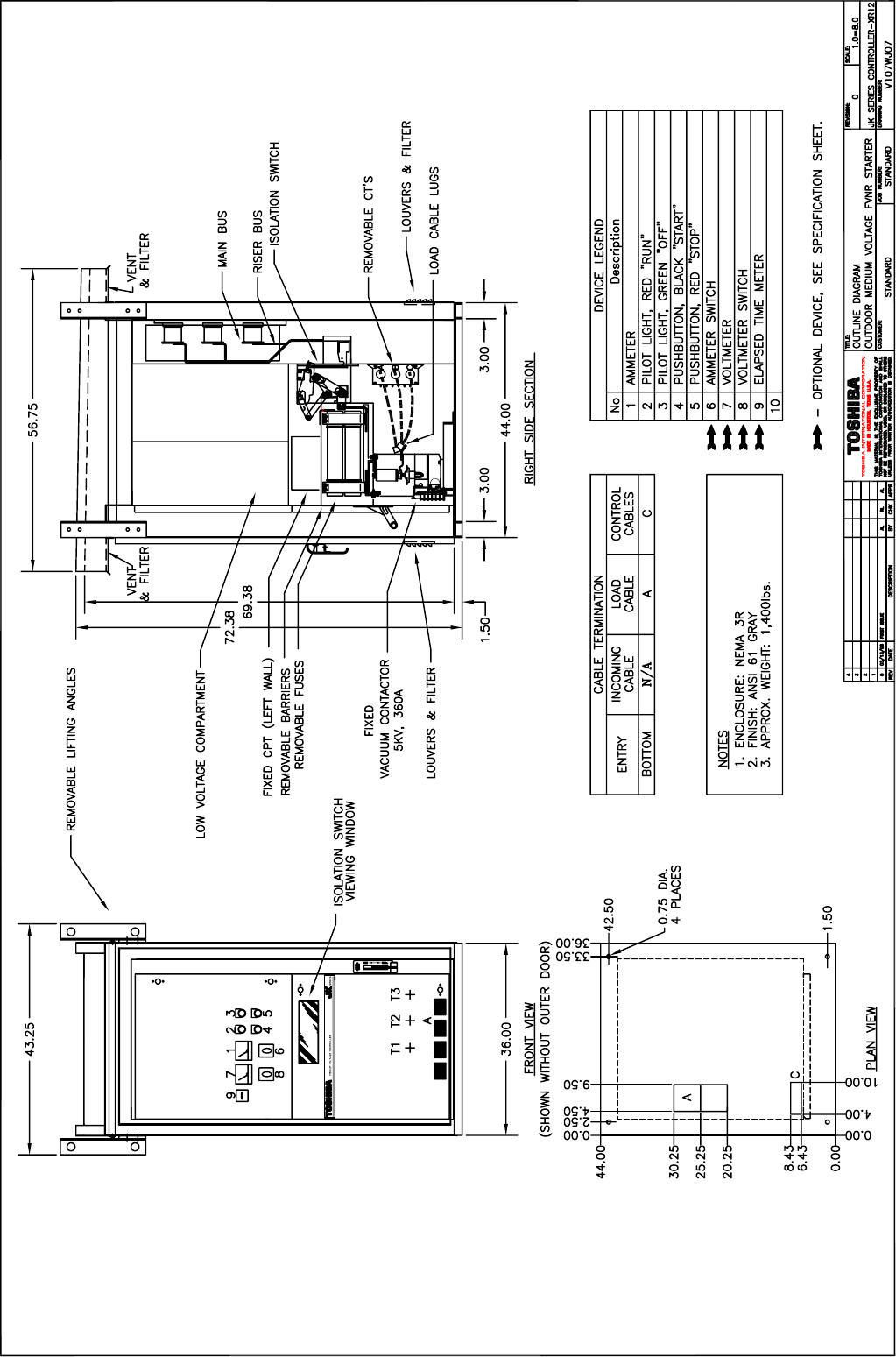 Toshiba Xt Jk Series Brochure Jkfixed400a720a G7 Wiring Diagram Medium Voltage Motor Drive
