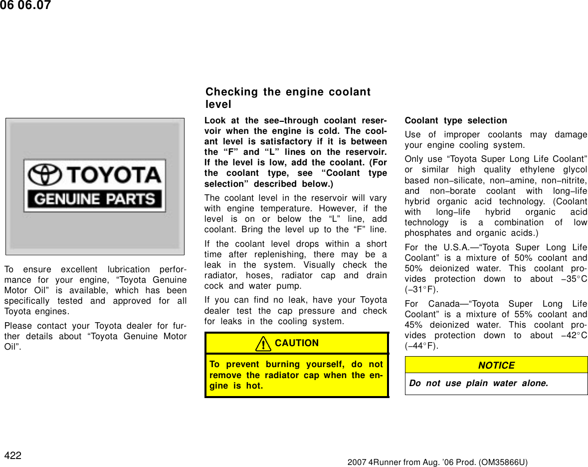 Toyota Engine Oil Guide