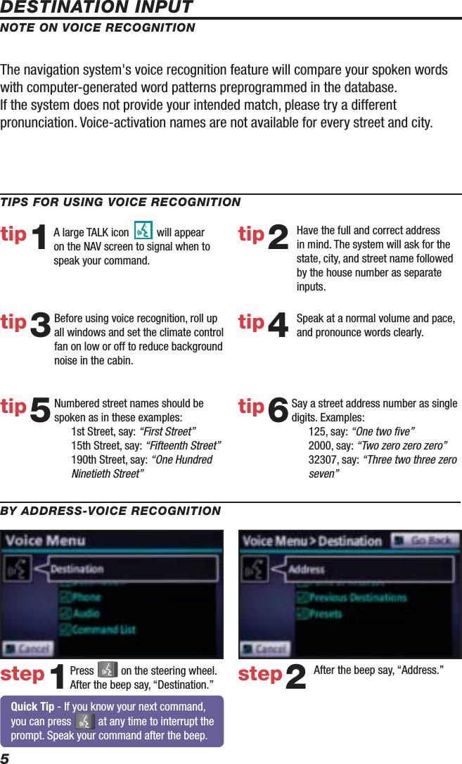 Toyota 2010 4Runner Reference Guide Nav QRG