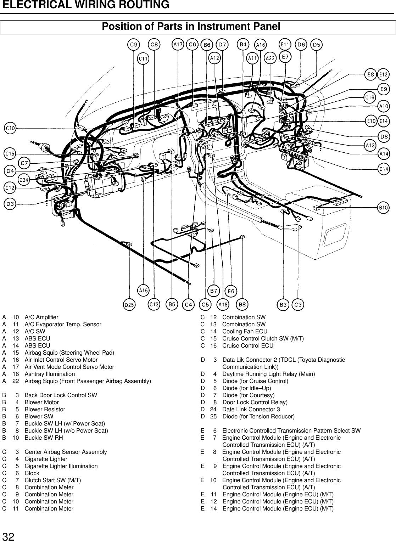 toyota mcv10 users manual Car Door Lock Parts Diagram