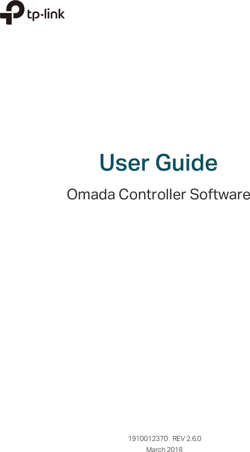 1910012370 Omada Controller Software 2 6 0 UG
