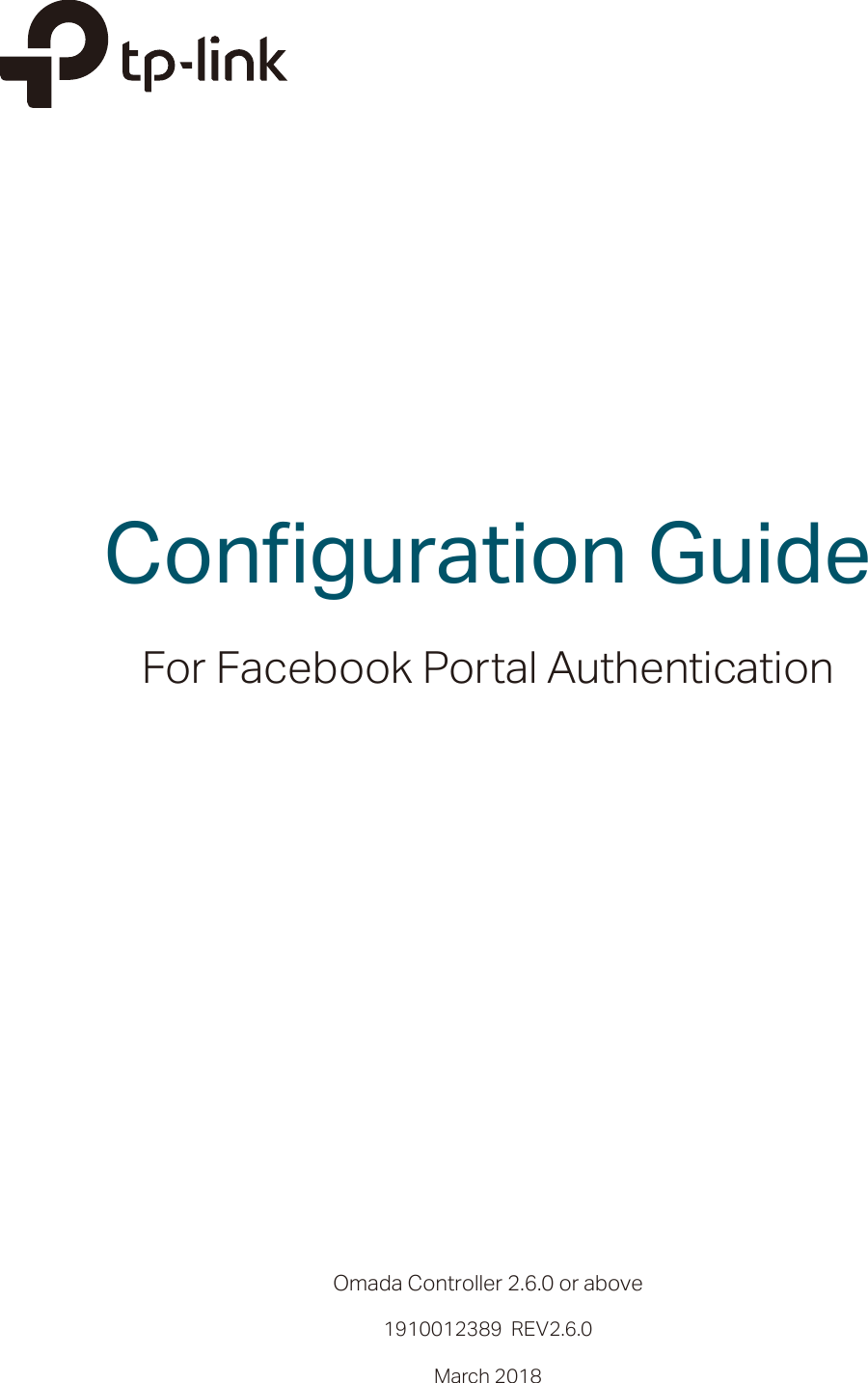 Configuration Guide For Facebook Portal On Omada Controller 2 6 X