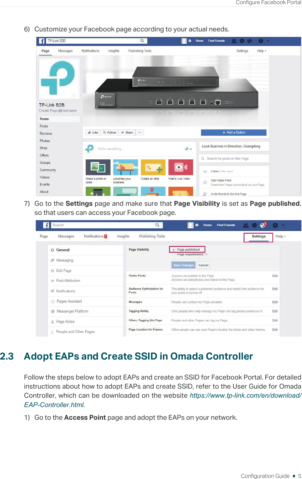 Configuration Guide For Facebook Portal On Omada Controller