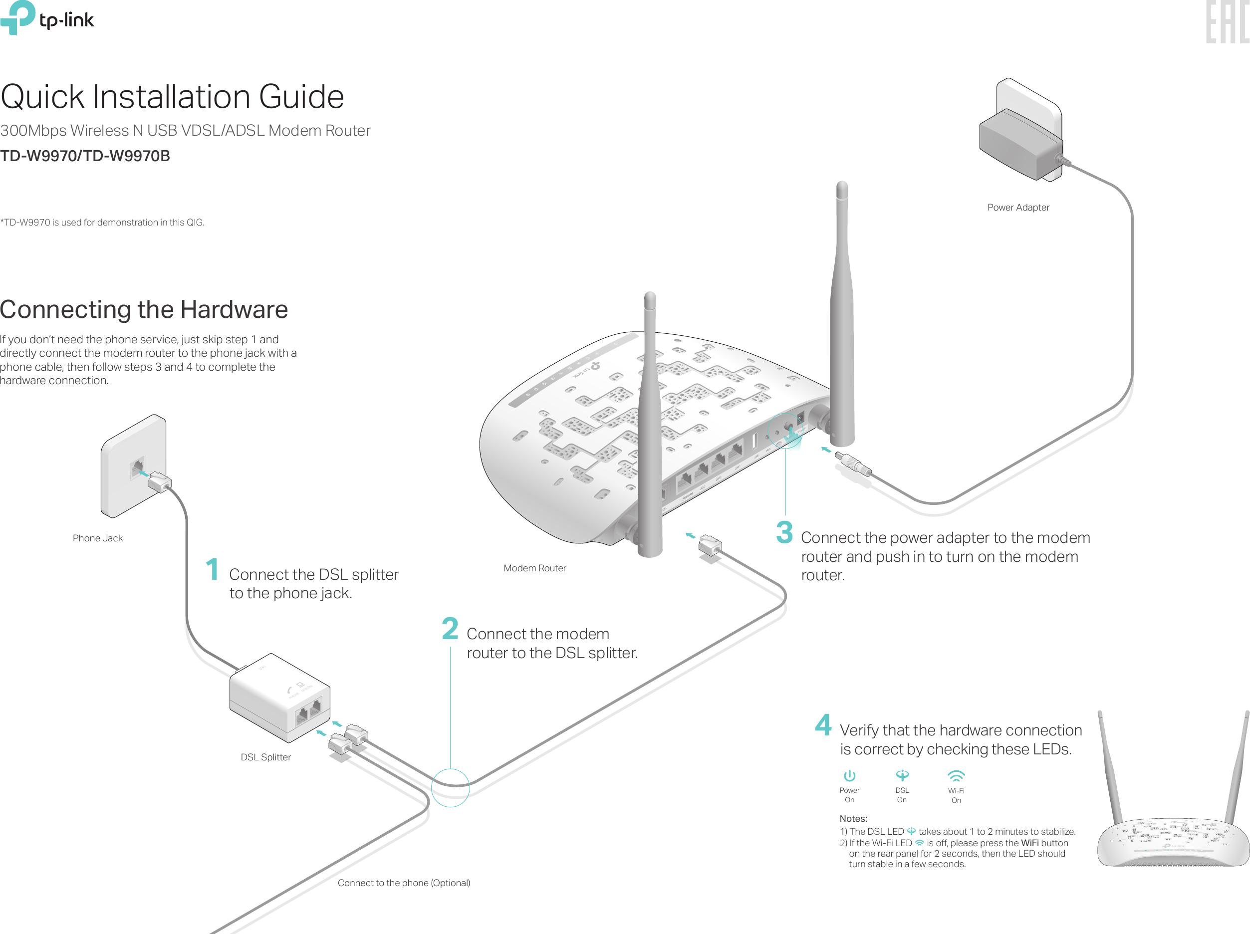 Td W9970eu V2 Quick Installation Guide 1482286347761d Vdsl Wiring Diagram