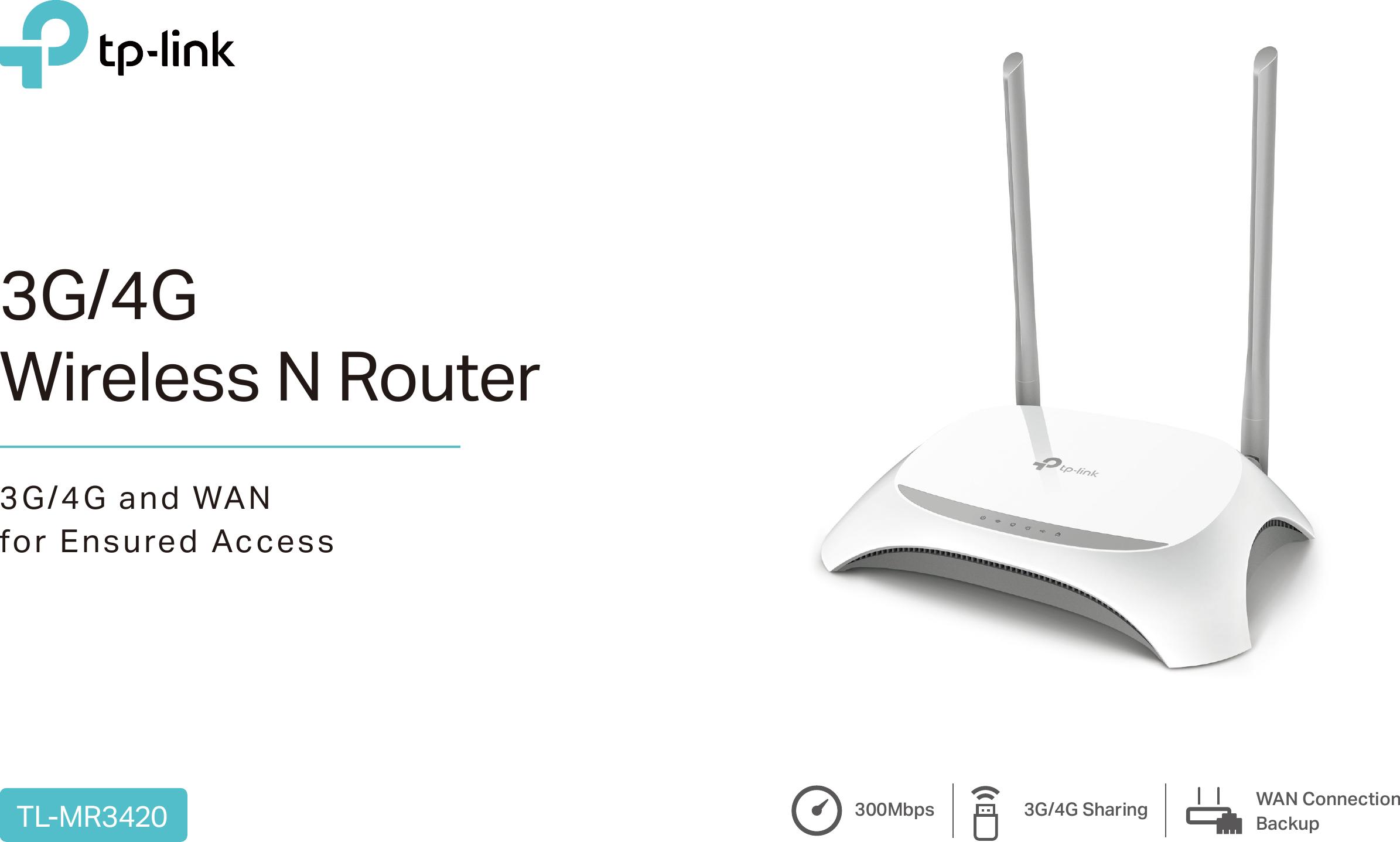 Tl Mr3420 V5 Datasheet Tplink Wireless N Router